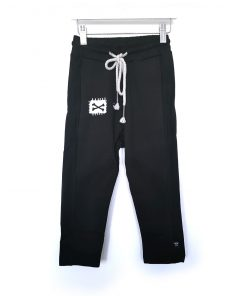 abalulu unisex black pants and white shirt מכנסים לילדים אבלולו
