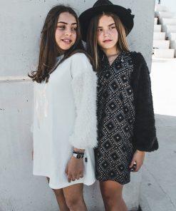 abalulu argyle and alaska fur dresses girls אבלולו 2 שמלות פרווה